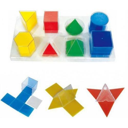 Набор прозрачных геометрических тел с разверткой (8 фигур)