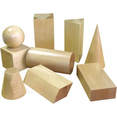 Набор Геометрические тела деревянные демонстрационный