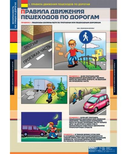 Комплект таблиц. Безопасность на улицах и дорогах (12 таблиц)