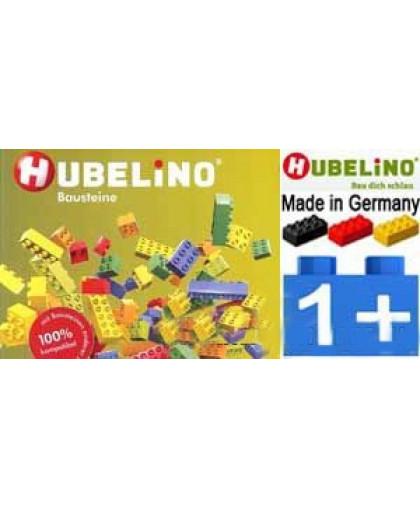 Кирпичики цветные с контейнером и с крышкой (550 элементов)