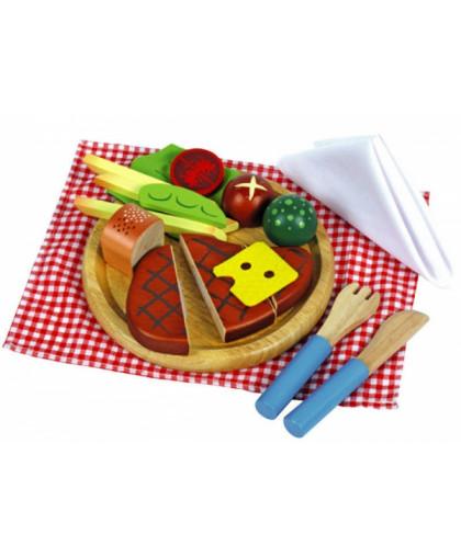 """Набор """"Накрываем на стол. Мясо с овощами"""" (дерево)"""