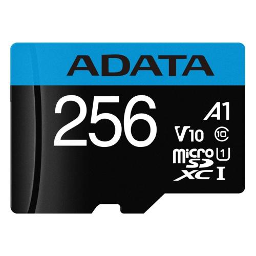 Карта памяти Adata Premier microSDXC 256Gb UHS-I U1 V10 A1 + ADP (85/25 Mb/s)